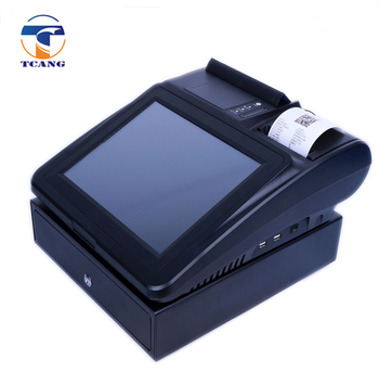 cheap price tablet hot sell sale machine pos system / pos terminal with label printer