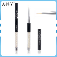 ANY Nails Art Picture Painting Pearl Handle Thin Nail Liner Brush Nylon Hair