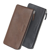 QIALINO New Products Genuine Leather Travel Handbag Passport Wallet For Mobile Phone