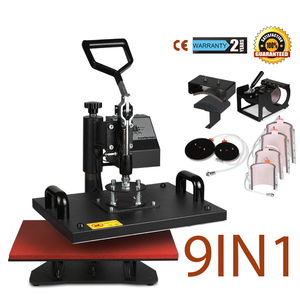 9 in 1 combo heat press machine 9in1 Heat Press Transfer T-Shirt Mug Cap Sublimation Printer Printing Machine