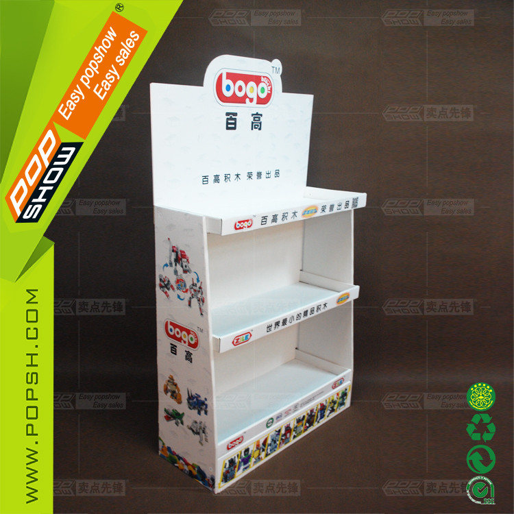 Custom portable assembled cardboard shelf Best price high quality