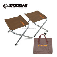 AIMIKA 2 in 1 set Outdoor Portable Oxford Aluminum Folding Step Stool Camping Chair fishing chair