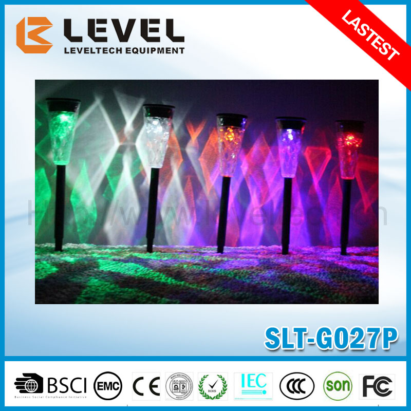 Rainbow Color Changing Lawn Path Lamp Solar Garden Stick Light Solar Powered Led Stick Light Solar Garden Pathway Lights
