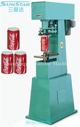 Simple easy to use manual semi automatic can sealer for sale for tin can aluminum can pet can paper tube tin tube