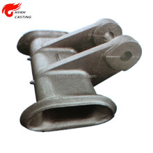 ISO certificated companies China ductile iron grey iron precoated sand casting parts with black powder coating service