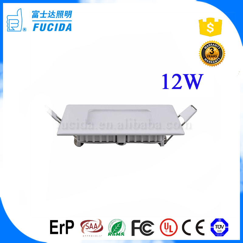 china manufacturer 12 watt 5700k smd small ceiling slim recessed warm cool white square led panel light price