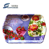 custom fancy strawberry flower printed fruit coffee shop hotel plastic serving tray