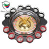 12 Shot Glasses Drinking Roulette Wheel Game Set
