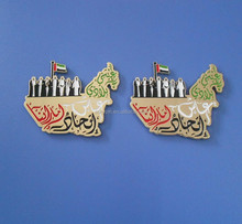 UAE Map Seven Sheikhs Magnet Pin, National Day Badge