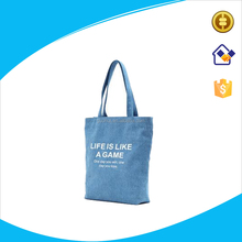 Cotton Polyester Denim Fabric tote bag, Special cotton canvas shopping tote bag