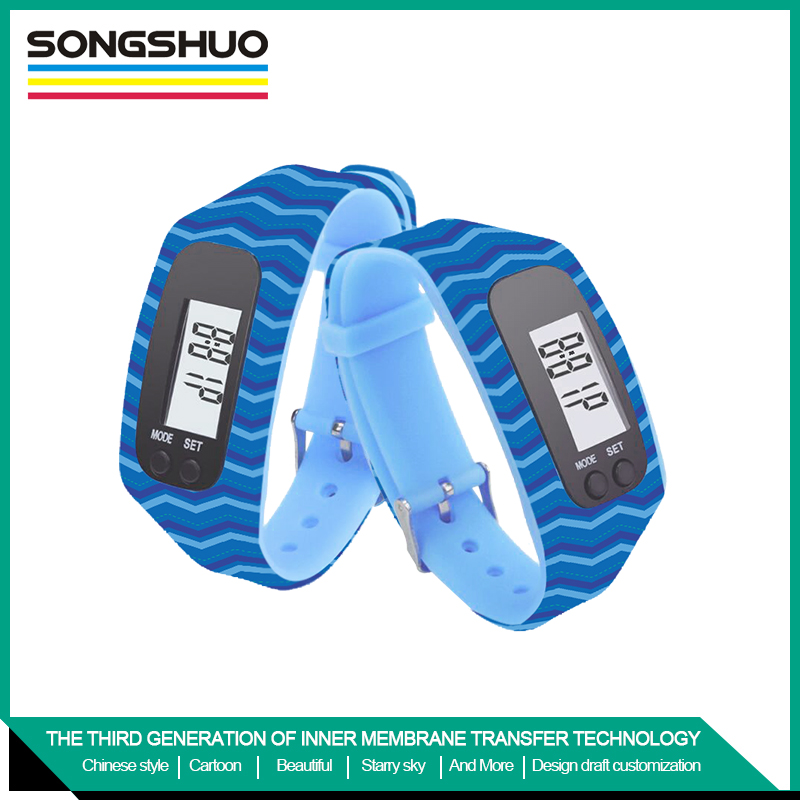 wristband pedometer silicone bracelet silicone watch Led pedometer digital sport watch