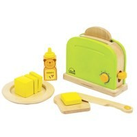 wooden bread maker kitchen paly toys for children