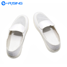 High quality white Antistatic grid shoes, cleanroom workshop anti-static shoes