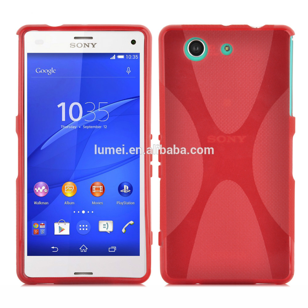X Line Wave TPU Gel Back Case For Sony xperia Z3 Mini, tpu cover for sony xperia z3 mini