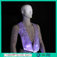 hot sale fashion led lighting up luminous vest waistcoat