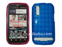 TPU Gel Case With Argyle Pattern For Motorola Photon 4G/MB855