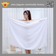 wholesale customized microfiber shower towel, bright colored white Microfiber woman magic bath towel coat
