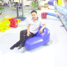 Custom color factory wholesale indoor or outdoor portable cheap inflatable sofa set design