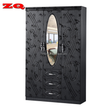 Wholesale Bedroom Furniture 3 Door clothes storage Wardrobe With Mirror