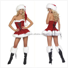 Red sexy christmas Carnival costume women Santa Claus Cosplay