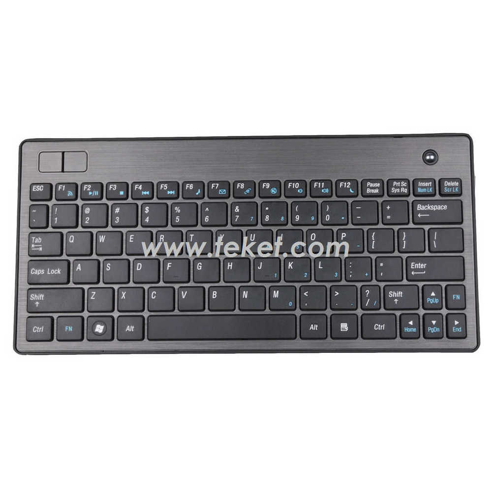 new 2.4G Wireless Keyboard with Trackball K2,Portable Slim,Ideal Receiver