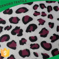 ANIMAL PATTERN SHORT HAIR VELBOA FOR SHOES FABRIC