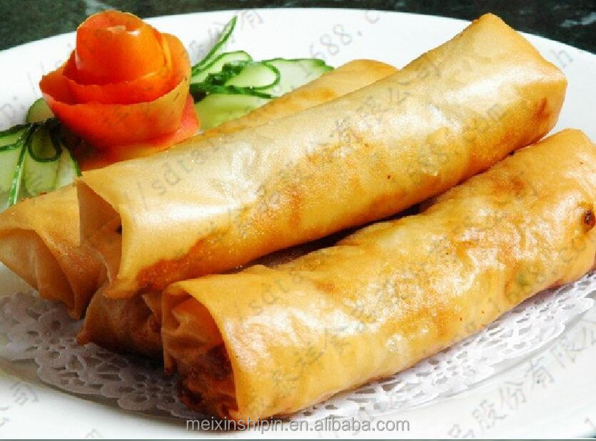 Quick frozen food snack food vegetable spring roll