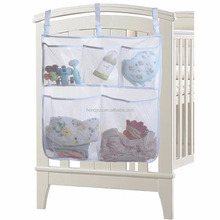 Baby Nursery Organizer for Clothing Diapers Toys Hanging Storage bag 5 Pockets Bedside Caddy