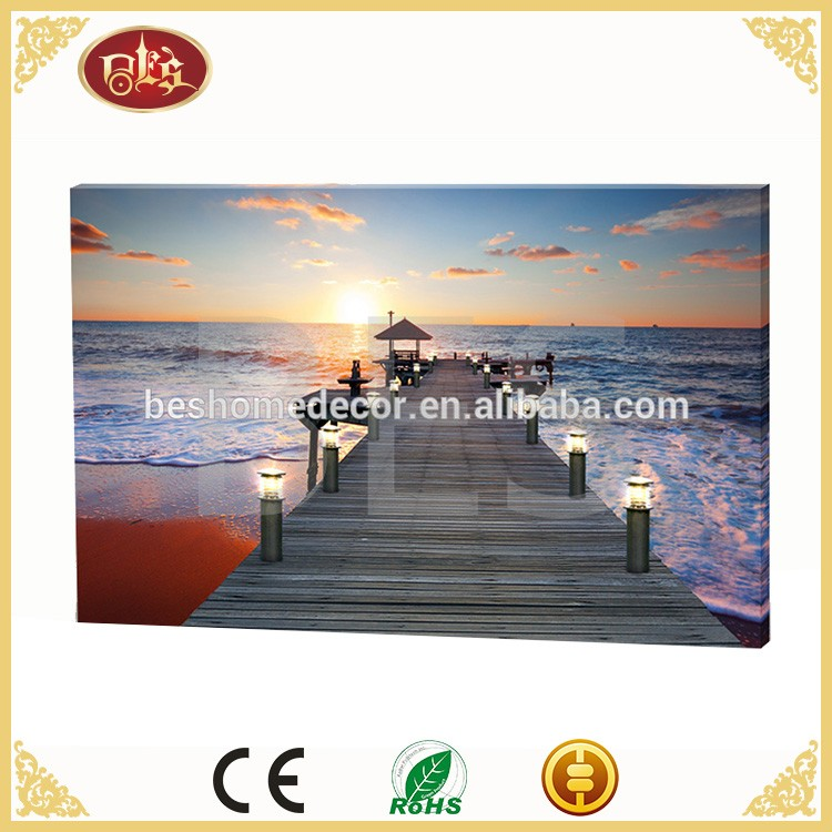 natural scene scenery art painting , custom natural scenery wall picture