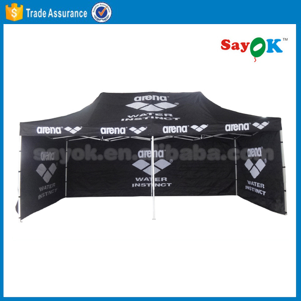 commercial grade aluminium folding gazebo tent used with printing