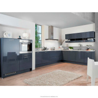 Guangdong New Fiber Kitchen Cabinet Modern Design Paint Blue Colors/Kitchen Cabinet Paint Colors/Kitchen Modern