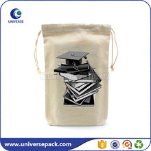 Natural large canvas storage bags with drawstring for shoes