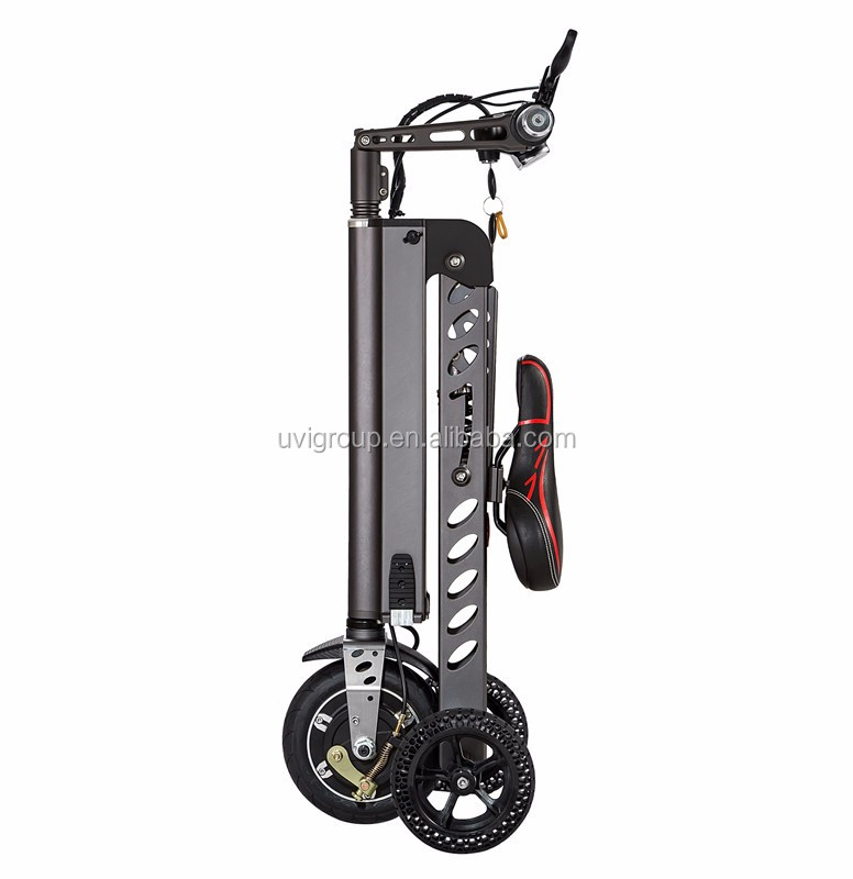 factory <strong>price</strong> Freego china mini folding three wheel electric bike with lithium battery inside electric scooter