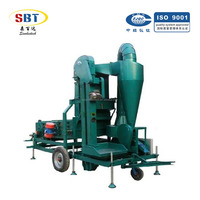 Mobile type 5X-5C wheat seed cleaning machine