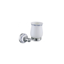 Wholesale chrome plated tumbler holder high quality toothbrush holder for hotel