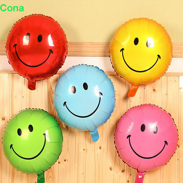 "18"" Emoji 2017 new 20 Pack Set Mylar Smiling Faces Balloons for Happy Birthday Party, Party Supplies, Party Decorations"