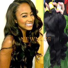 Newness Hair body wave new style crochet braids with human hair water wave hair weave clip in extensions 300 grams