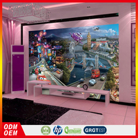 3D Cars cartoon pictures wallpaper murals china supplier