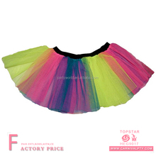 wholesale rainbow tutu skirt blue hot pink kids tutu dress hen party performance wear baby tutu romper bloomer skirts for sale