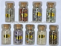 Gemstone Collection Box by kinds of chip semi precious stone in bottle