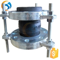 galvanized rubber expansion joint flange type with tie rod