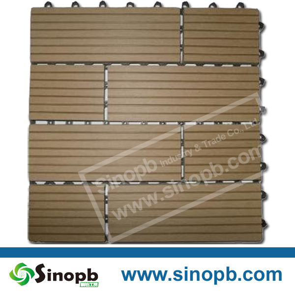 Exterior Wood Like Composite Decking Tile WPC Decking