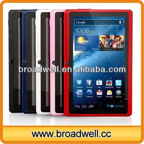 Best selling Cheapest Different color Allwinner A13 7inch android mid q8 tablet pc