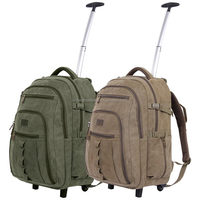 China supplier canvas caarry travel laptop day backpack, Carry on luggage trolley bag With alumninum rod and hideaway straps