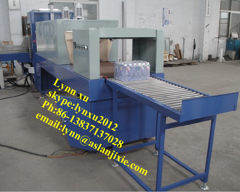 bottle shrink wrapping machine/automatic beverage bottle wrapper