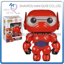 Mini Qute Funko Pop Kawaii big hero 6 baymax doll action figures collection cartoon models educational toy NO.FP 112