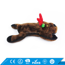 Hot Selling Black Reindeer Plush Squeaker Chew Dog Play Toys