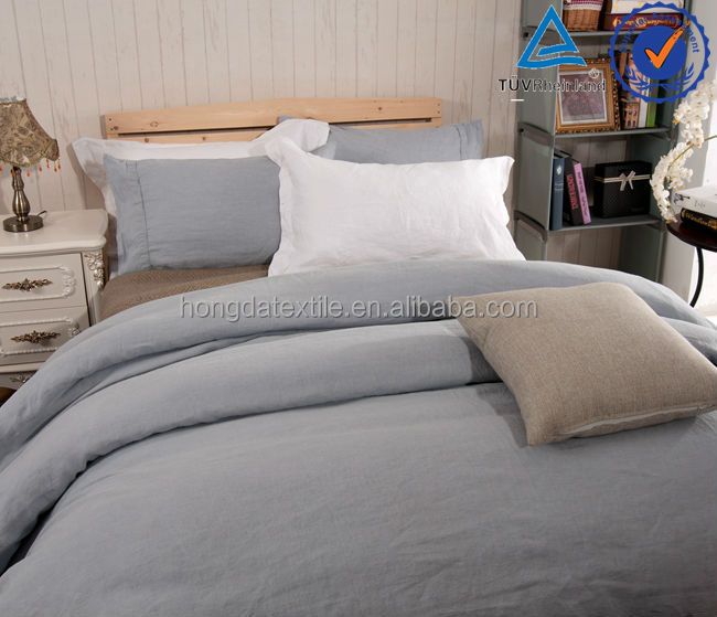 Vintage washed 100% linen flax bedding