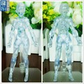 human body figure 6inch translucent clear plastic action figure toy