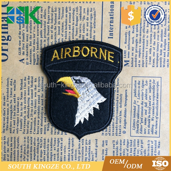 US Army Large Jacket or Shirt Stitch Patch Airborne Eagle Applique